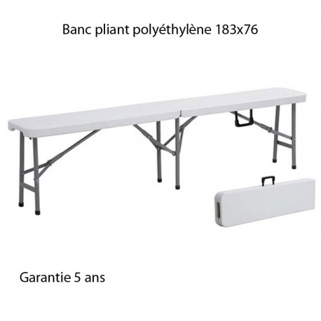 banc pliant pour table 183x76. Black Bedroom Furniture Sets. Home Design Ideas