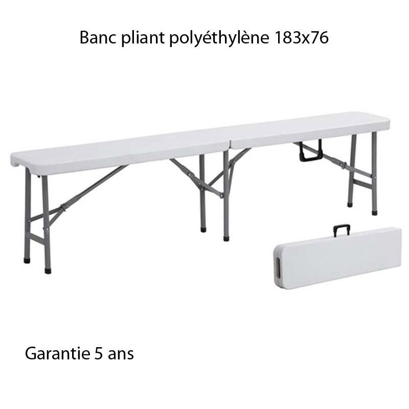 Banc pliant pour table 183x76 for Table et banc pliant castorama