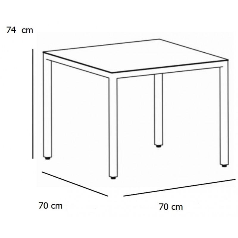 table barcino 70 x 70 cm designed by joan gaspar. Black Bedroom Furniture Sets. Home Design Ideas