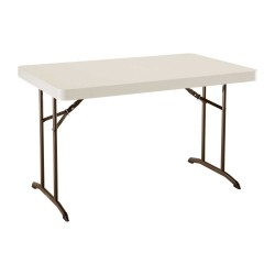 Table rectangulaire pliante LIFETIME Polyéthylène 120x76x74
