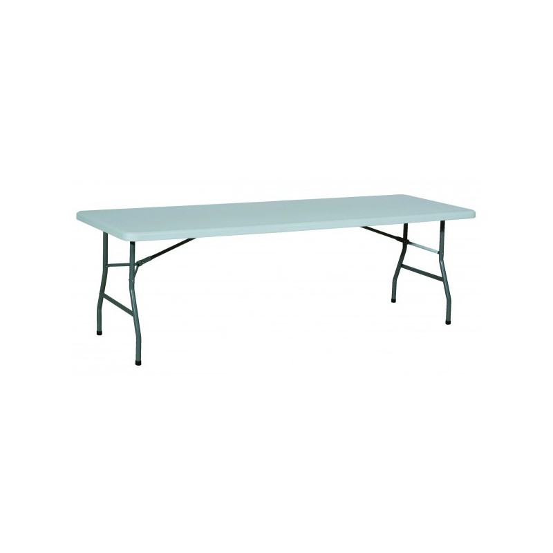 Table rectangulaire poly thyl ne pliante 222 x 76 cm - Table rectangulaire pliante ...