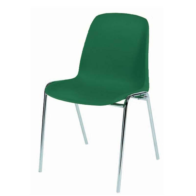 Chaise coque plastique empilable et accrochable non feu m4 for Chaise empilable plastique