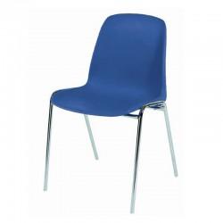 Chaise coque plastique empilable non feu M4. Piètement 18mm