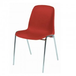 Chaise coque plastique Empilable non feu M2. Piètement 18mm