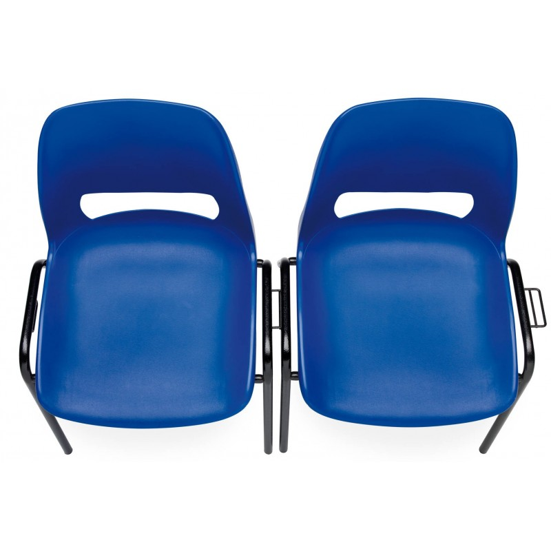 Chaise stella coque plastique empilable accrochable non feu m2 for Chaise empilable plastique