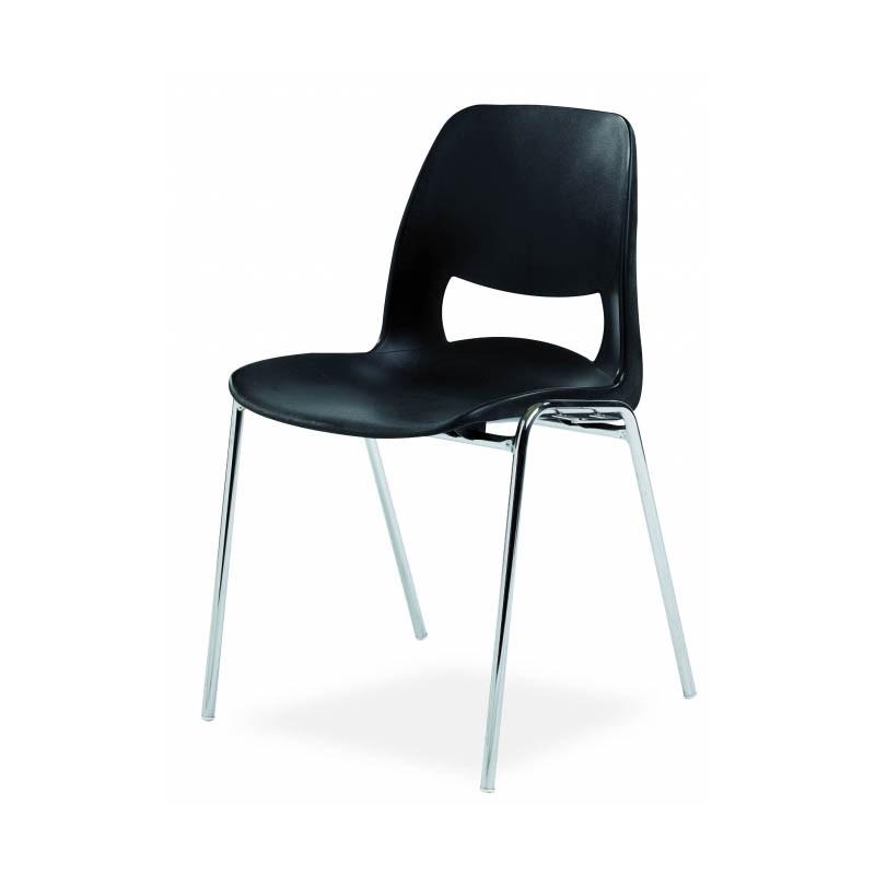 Chaise stella coque plastique empilable accrochable non feu m2 for Chaise empilable