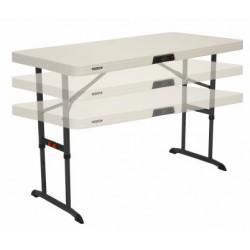 Table traiteur - enfants 122 x 60cm Lifetime pliable à hauteur réglable