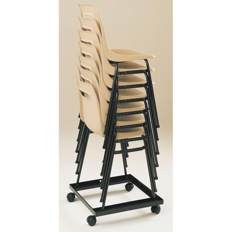 chariot de transport pour chaise empilable. Black Bedroom Furniture Sets. Home Design Ideas