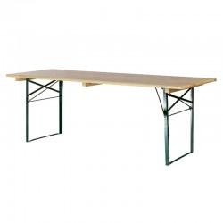 Table de brasserie piétement cornière 220x80cm