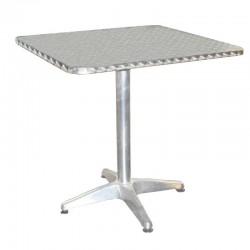 Table Aluminium carrée plateau de 70 cm