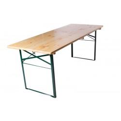 Table de brasserie 220x70cm piétement cornière