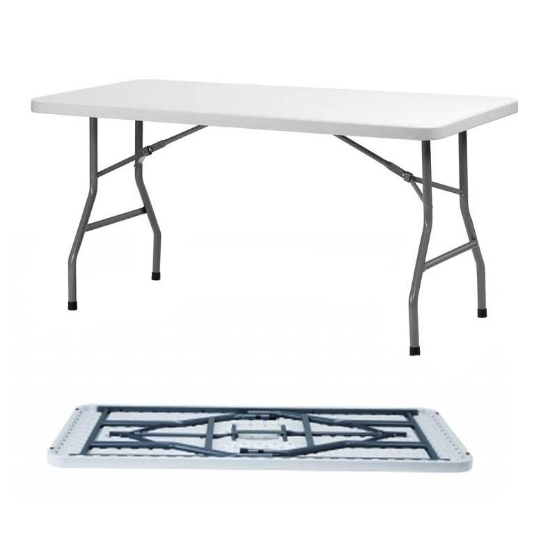 table rectangulaire pliante polyéthylène xl150 dim:152x76