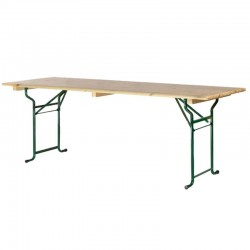 Table de brasserie  piétement tube 220x80cm