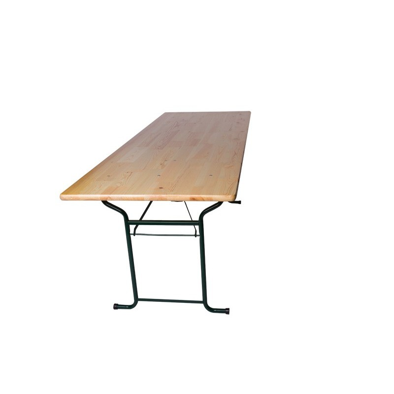 Table de brasserie pliante 200x70 for Pietement de table pliante