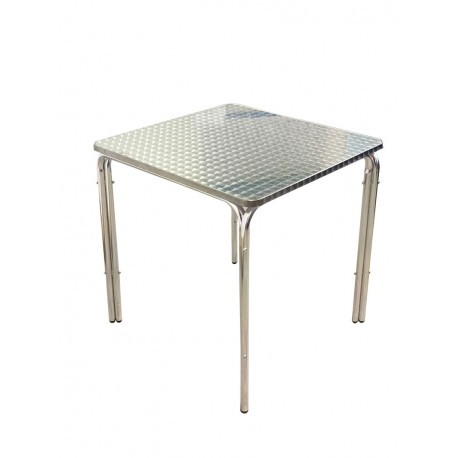 Table carrée plateau de 70 cm Aluminium