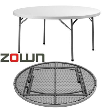 Table ronde polyéthylène pliante PLANET180 de diamètre 180cm