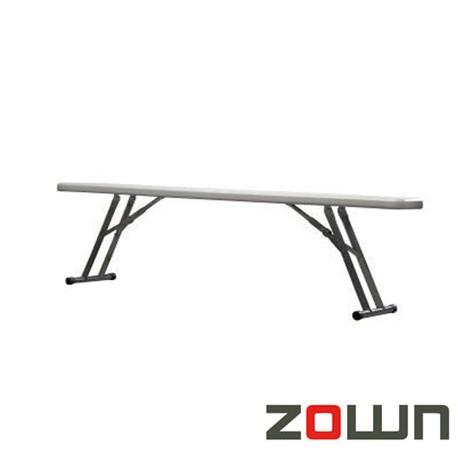 Banc pliant polyéthylène pour table 183x76