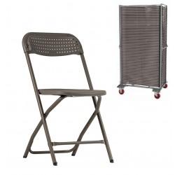 50 chaises Big Alex + Chariot de stockage (capacité de 50 chaises)