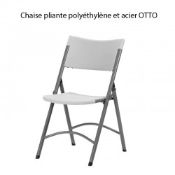 Chaise pliante polyéthylène et acier Otto