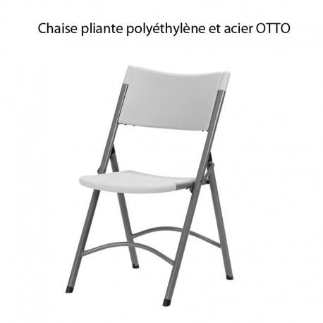 chaise pliante polyethylene et acier otto usage public intensif commande minimum de 8 chaisesjpg - Chaise Acier
