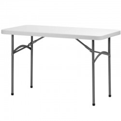 Table rectangulaire pliante Polyéthylène L120 dim:120x60x74 Minimum de commande 10 tables