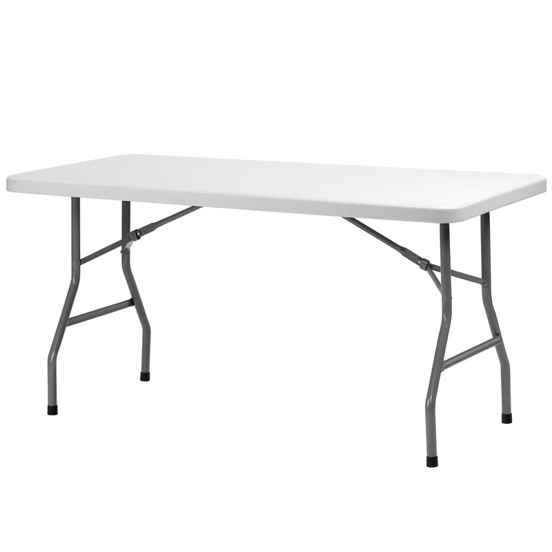Table rectangulaire pliante poly thyl ne xl180 dim 183x76 haut de gamme - Table rectangulaire pliante ...