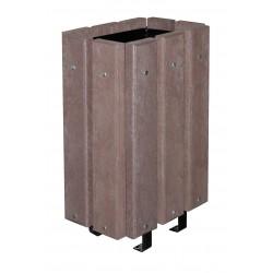 Corbeille Urbaine Moray recyclée sans couvercle marron