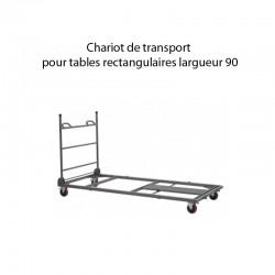 Chariot pour tables de largeur 90 Capacité de 18 tables longueur de 2m - 15 tables longueur 2.40m