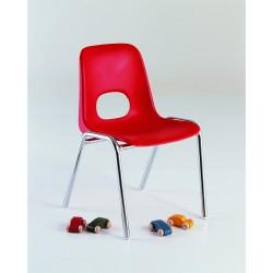 Chaise Bologne enfant 34 cm pieds chromés Non Assemblable M2
