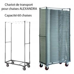 Chariot de transport pour chaises ALEXANDRA Capacité 60 chaises