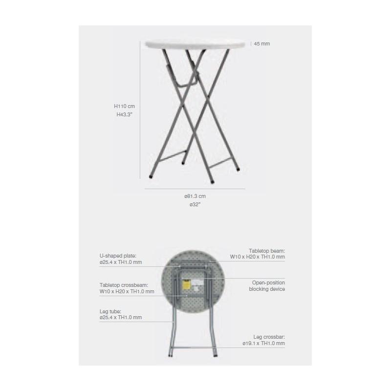 mange debout pliant en poly thyl ne diam 80cm hauteur 110cm. Black Bedroom Furniture Sets. Home Design Ideas