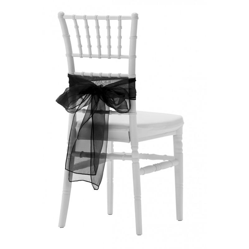 n ud en organza pour chaise liguria bonaparte medallion magnus valentina. Black Bedroom Furniture Sets. Home Design Ideas