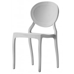 Chaise medallion I blanc