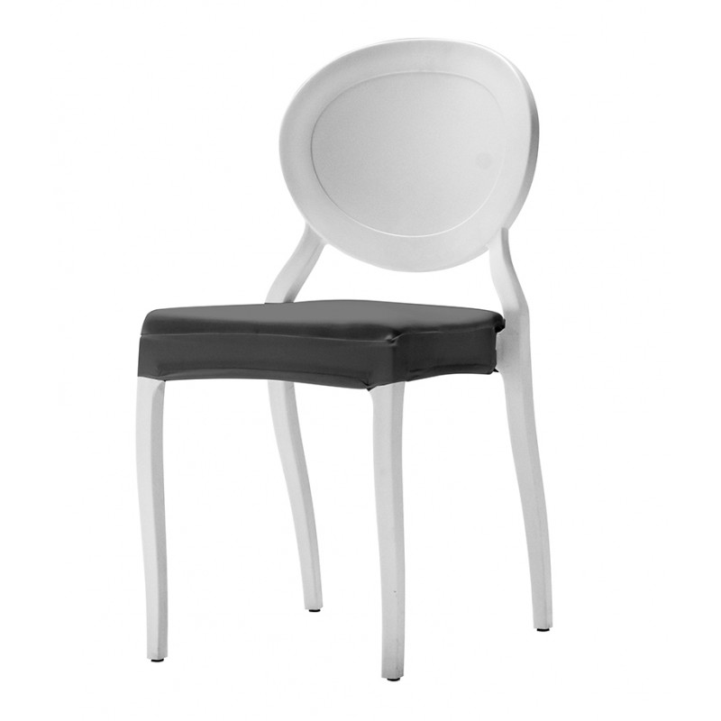 coussin d 39 assise int gral en stretch pour chaise medaillon i. Black Bedroom Furniture Sets. Home Design Ideas
