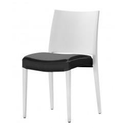 Coussin d'assise intégral en stretch pour chaise Magnus