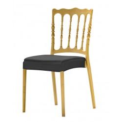 Coussin d'assise intégral en stretch pour chaise bonaparte II