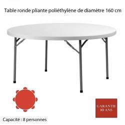 Table ronde pliante polyéthylène PLANET 160 Diam: 160