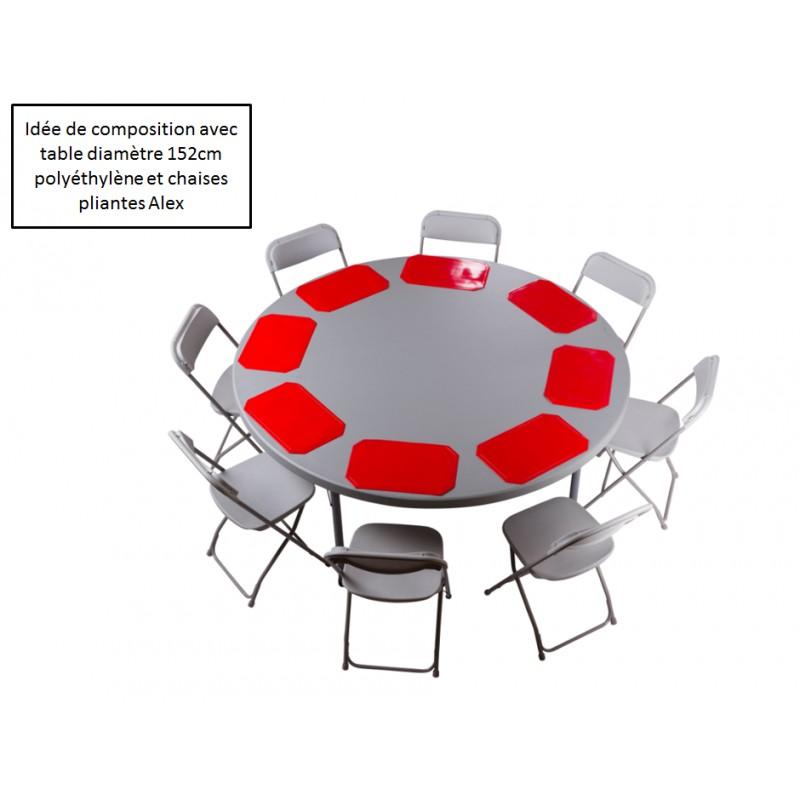 Table Ronde 180 Combien De Personnes : Table ronde pliante polythylne planet diam with