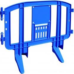 Barrière de Sécurité Plastique MOVIT 1.25x1m
