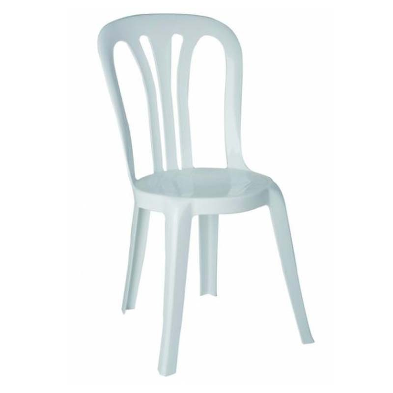 Chaise bistrot empilable for Chaise de table blanche