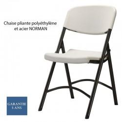 Chaise pliante polyéthylène et acier Norman