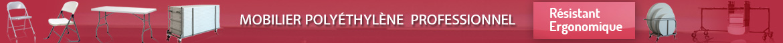 MOBILIER POLYETHYLENE pour toutes tailles et tout usage ,  tables polyethylenes et chaises polyethylenes